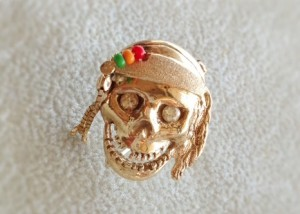Caribbean Skull Pin